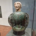 Bronze and terracotta funerary urn