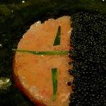 Tartar de gamba de Roses, con caviar