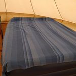 Double Airbed in Bell Tent