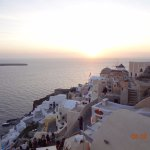 Sunset in Oia Foto