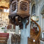 Nicely carved pulpit