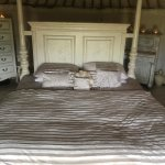 Our bed in French yurt