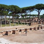 Ostia Antica theater, with Dennis at the very bottom.