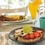 Breakfast in the garden terrace