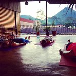 Daily Sunset Yoga Classes at our Yoga Deck overvewing Arenal Volcano