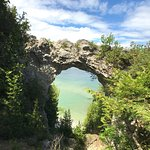 Views of Arch Rock while Biking, at the Arch Rock, and from the Lake while Kayaking in the morni