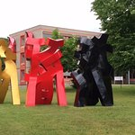 Outdoor sculptures at NordArt