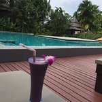 Berry smoothie - no alcoholic drinks served at this hotel