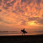 Sunset on Jaco beach.