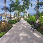 Main path that runs throughout the resort