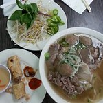 The house special called Pho Dac Biet is awesome. You get that and a springroll for $10. You can