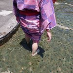 Ouch! Painful foot bath walk at Oedo Onsen