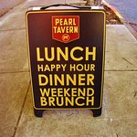 Pearl Tavern sidewalk sign