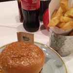 Burger, Chips and a Coke