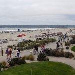 View of beach from Sun Deck Bar