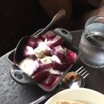 Beets with blue cheese dressing