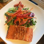 Cedar Plank Salmon Salad w/blackberry vinagariatte