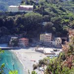 Hotel Pasquale is the small pink building in the center of the photo.