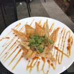 Ahi tuna mango tower with home made deep fried tortilla chips