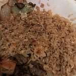 "2 different meals with ""vegetable"" fried rice- no vegetables. We let both the server & manager-"
