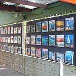 Large tourist brochure display