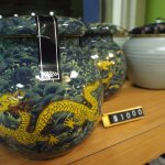 Formosan Oolong in beautiful dragon pot