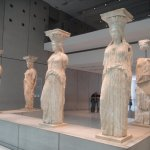 The original Caryatids from the Erectheion