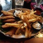 Fried oyster platter.