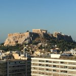 Daytime view of Acropolis from rooftop bar/restaurant