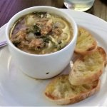 Cup of Tuscan soup.