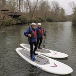 First timers ripping up the cool spring currents of the Upper Chattahoochee.