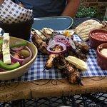 Cyprus Platter and king prawns