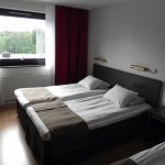 Double bed in room