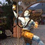 Lord Shiva at entrance of the Ashram