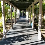 Walkway to reception and dining