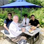 Here, Joe and Jerald from Singapore join GG and myself for lobster rolls and more