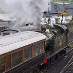 Steam passenger service.