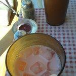 Visit 25JUN2017 (pomegranate yogurt drink).