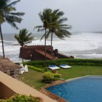 View of sinquerim beach and fort aguada from taj lobby