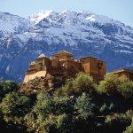 Kasbah du Toubkal taken from the village of Imlil