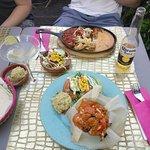 Red Chipotle and Chicken Fajitas..