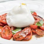 Fresh burrata from Puglia with Datterini tomatoes
