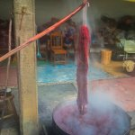 Dying wool with cochineal with Isaac Vasquez Garcia