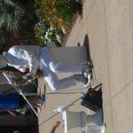 Street performer in BALBOA Park