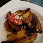 Plantains, tamarind fish, snapper special