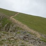 Trail by cliff edge
