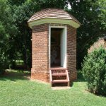 Only Jefferson would think of this fancy outhouse.