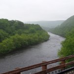 Lehigh Gorge.  Town of Jim Thorpe should be on the right bank in the distance