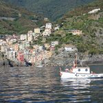 Riomaggiore from the sea side