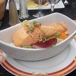 le saumon et ses legumes locaux de l'hortillonage